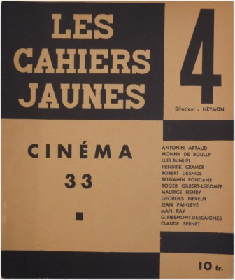 cahirs jaunes Fondane cinéma 33