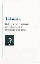 Titanic n°1 - Bulletin International de l'Association Benjamin Fondane (2013)